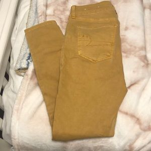 mustard colored jegging
